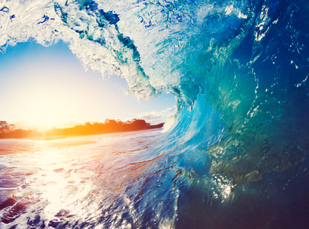 Ocean wave tunnel